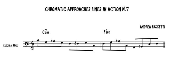 Jazz Improvisation for Bass with Andrea Fascetti- Chromatic Approaches in Action Part 7